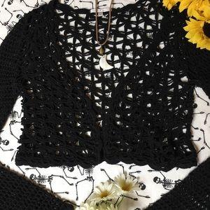 🖤Black open knit cardigan/ shrug🖤